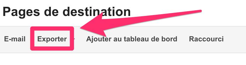 exportation URL-v2