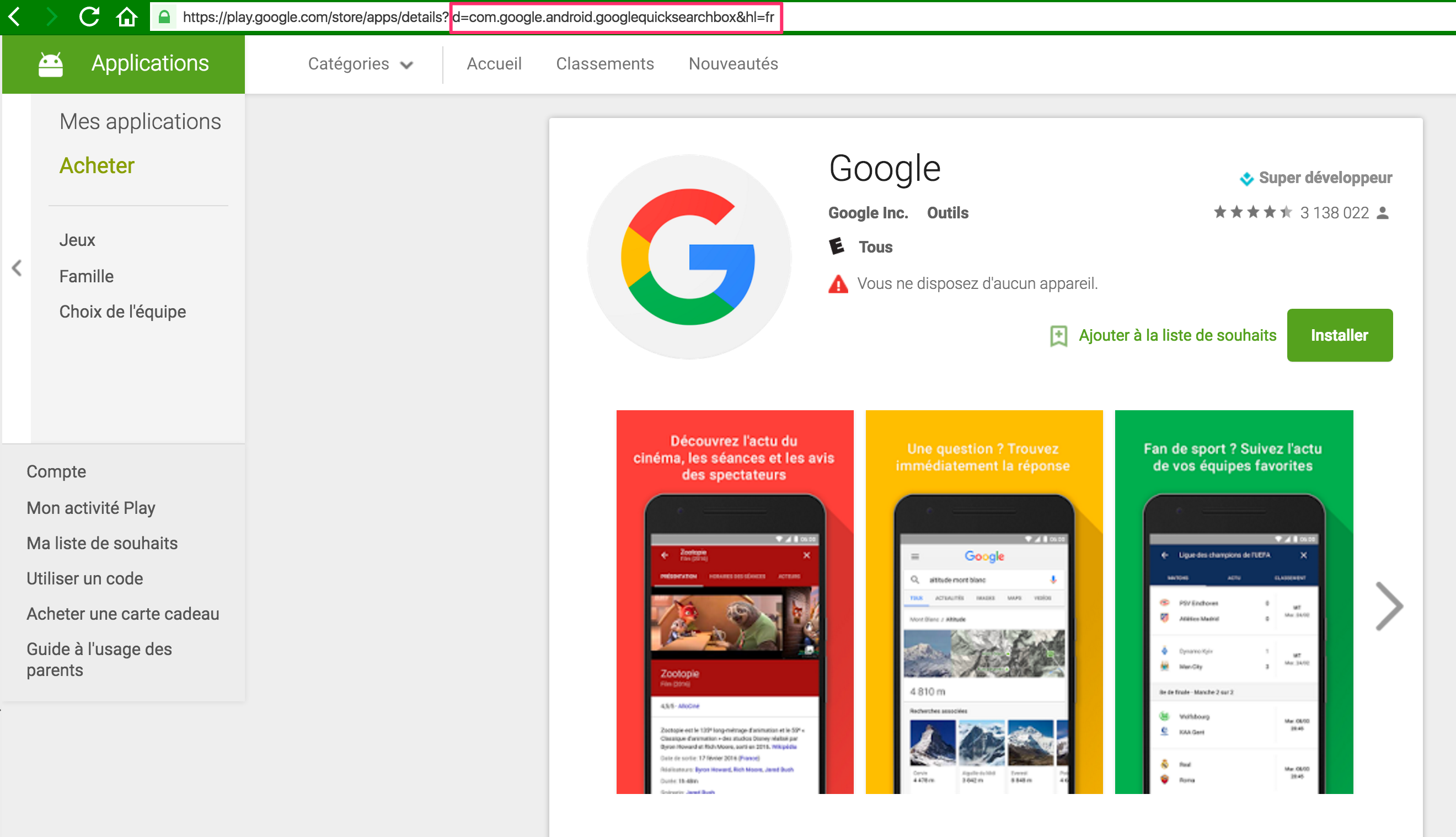 Referrer Google app 3